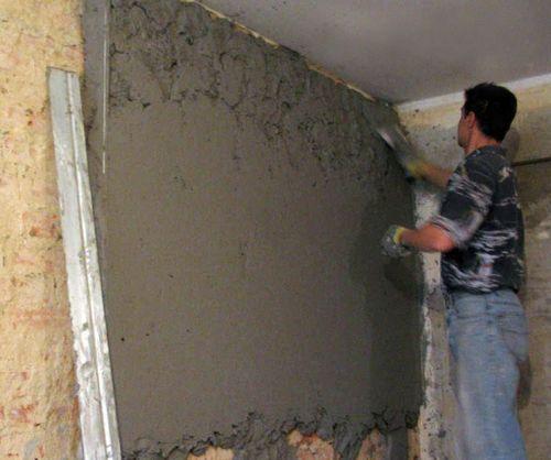 Оштукатуривание стен фасада цементным раствором описание бетонной смеси