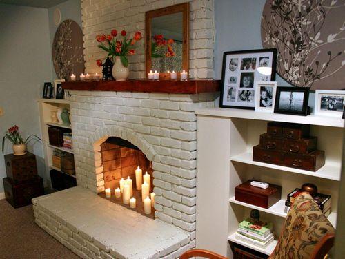 Имитация камина своими руками в квартире из пенопласта 44