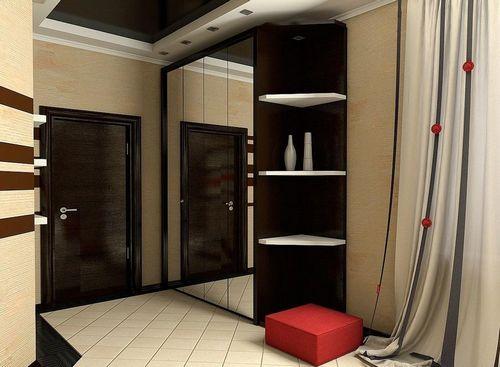 гардеробная в прихожей коридор угловой фото и дизайн шкафа