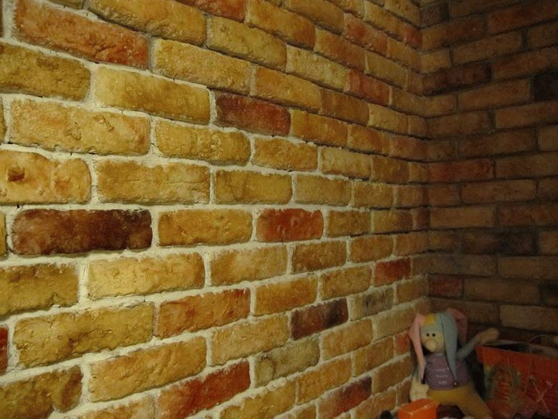Как сделать стенку под кирпич 426
