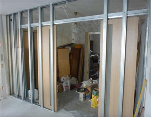 Как сделать стенку с дверью 77